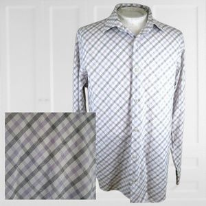 Banana Republic mens Dress shirt XL tattersall